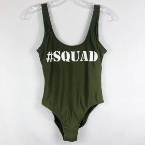 California Waves   Green #Squad One Piece